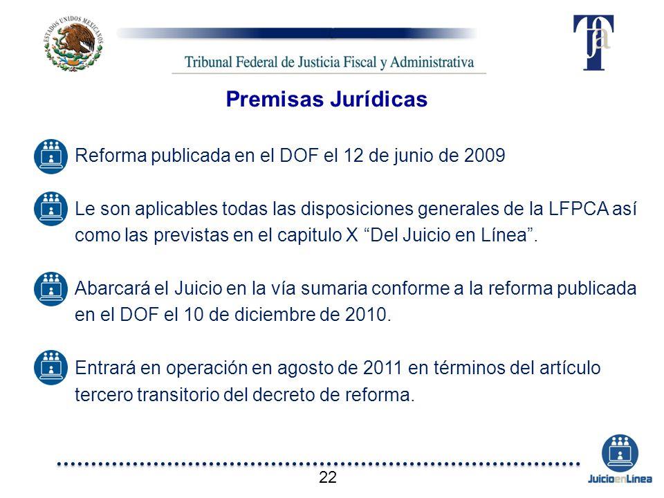 Premisas Jurídicas Reforma publicada en el DOF el 12 de junio de 2009
