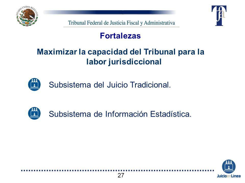 Maximizar la capacidad del Tribunal para la labor jurisdiccional