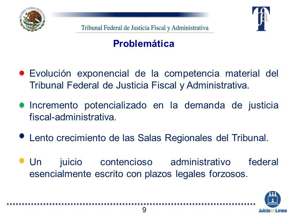 Lento crecimiento de las Salas Regionales del Tribunal.