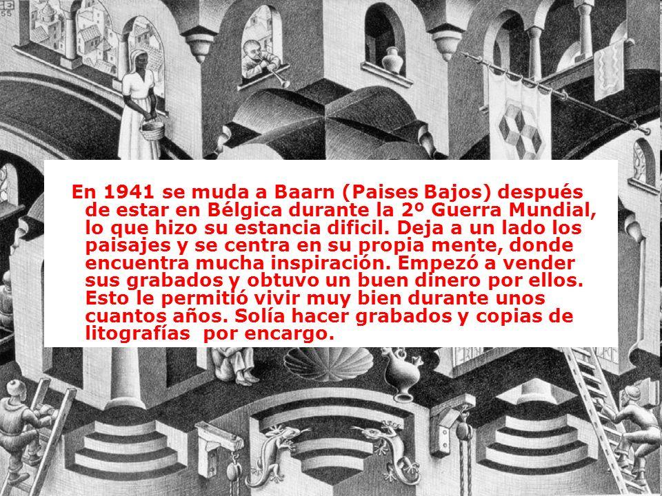 En 1941 se muda a Baarn (Paises Bajos) después de estar en Bélgica durante la 2º Guerra Mundial, lo que hizo su estancia dificil.