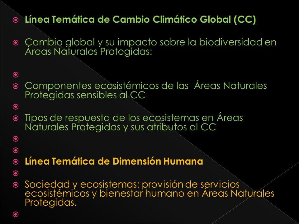 Línea Temática de Cambio Climático Global (CC)