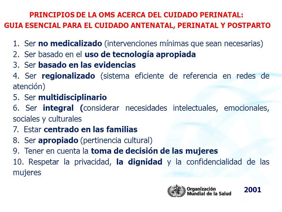 1. Ser no medicalizado (intervenciones mínimas que sean necesarias)