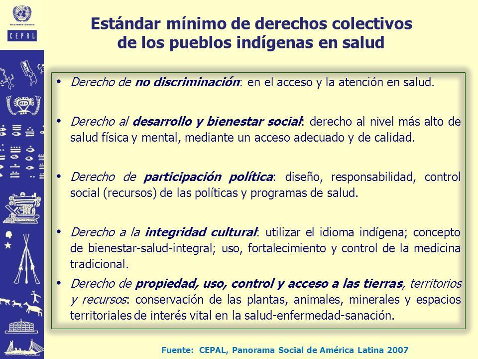 Fuente: CEPAL, Panorama Social de América Latina 2007