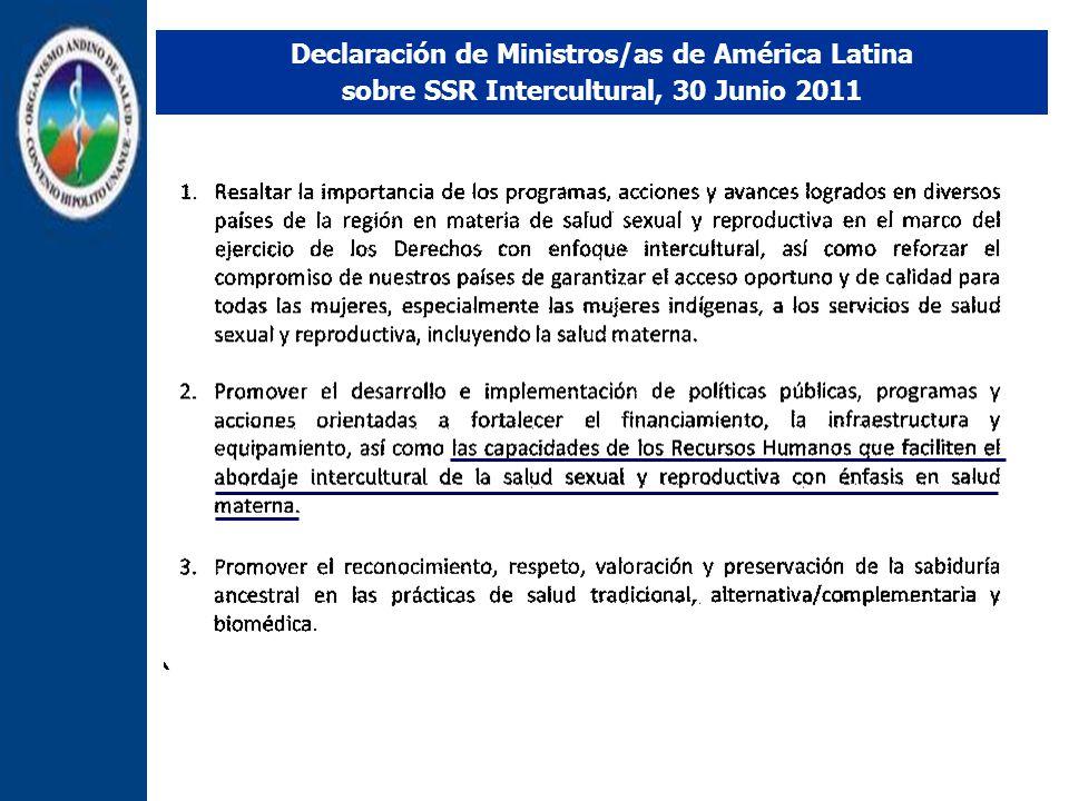 Declaración de Ministros/as de América Latina