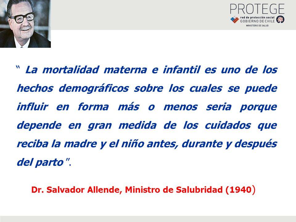 La mortalidad materna e infantil es uno de los hechos demográficos sobre los cuales se puede influir en forma más o menos seria porque depende en gran medida de los cuidados que reciba la madre y el niño antes, durante y después del parto .