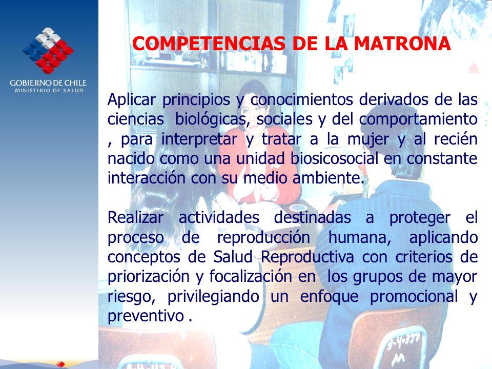 COMPETENCIAS DE LA MATRONA