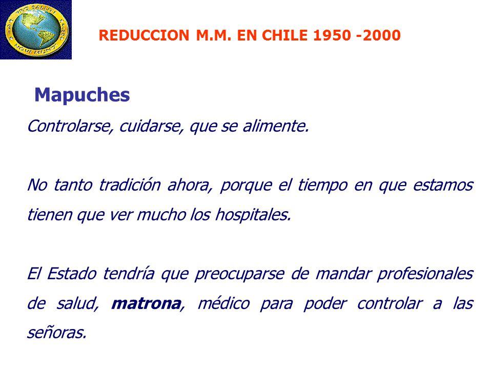 Mapuches Controlarse, cuidarse, que se alimente.
