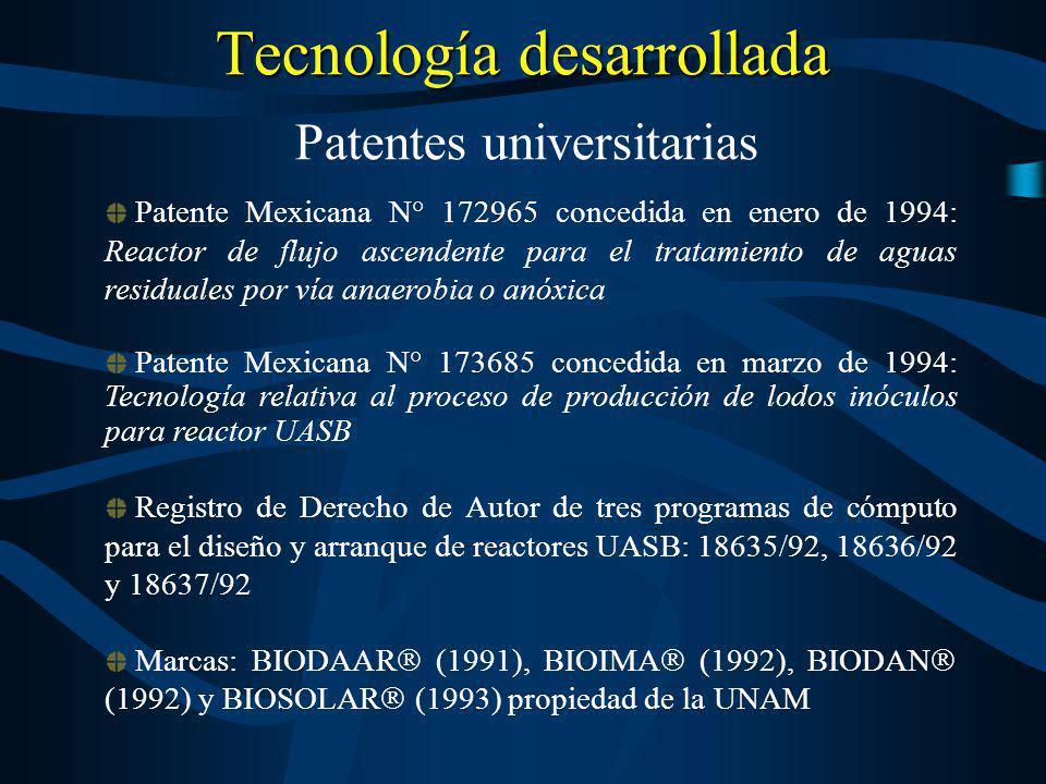 Tecnología desarrollada