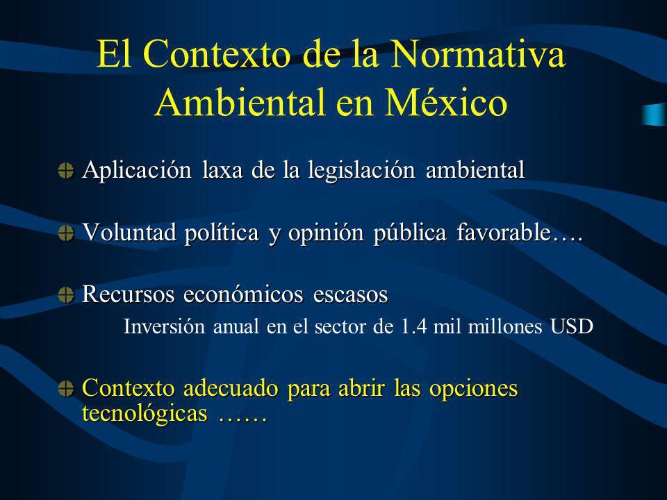 El Contexto de la Normativa Ambiental en México