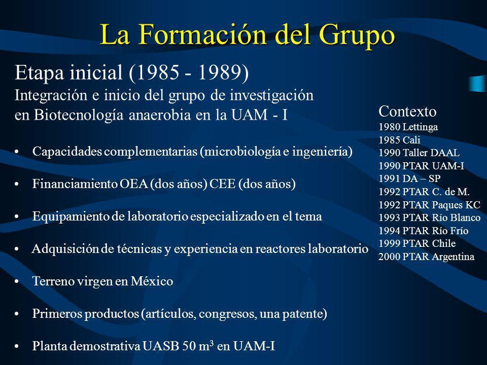 La Formación del Grupo Etapa inicial (1985 - 1989)