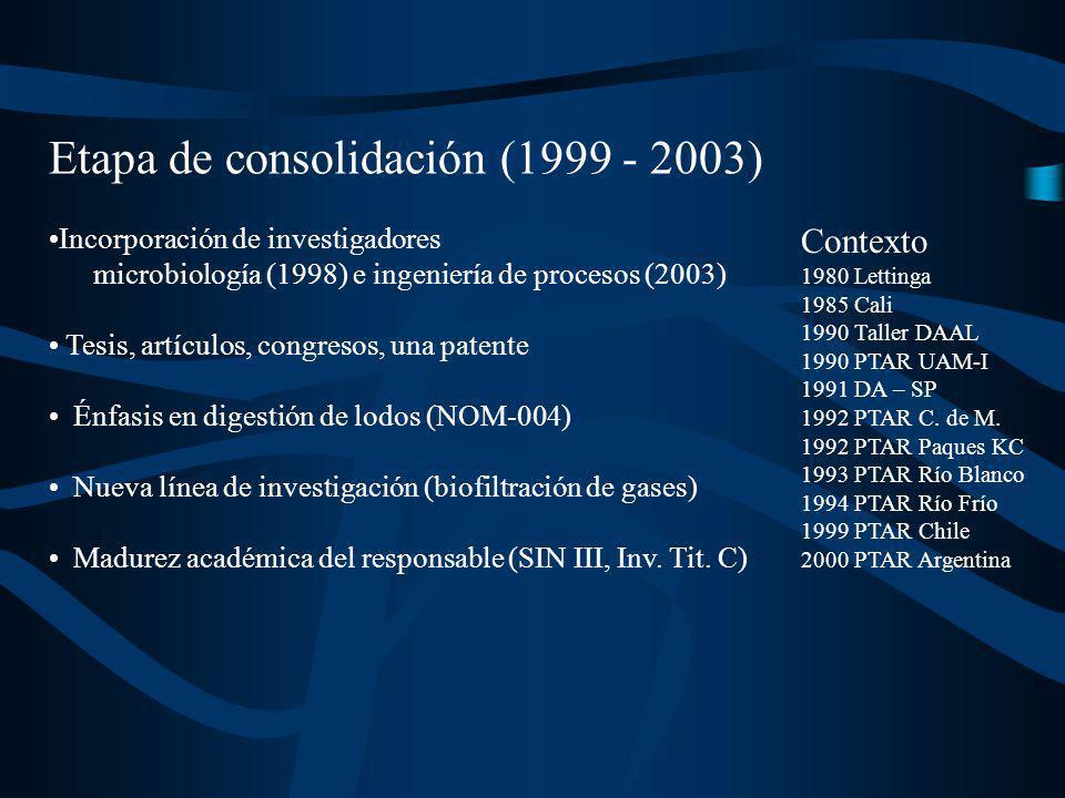 Etapa de consolidación (1999 - 2003)