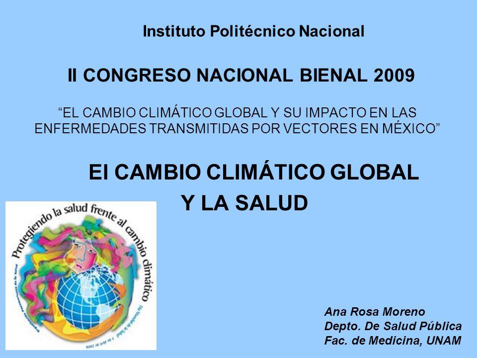 El CAMBIO CLIMÁTICO GLOBAL