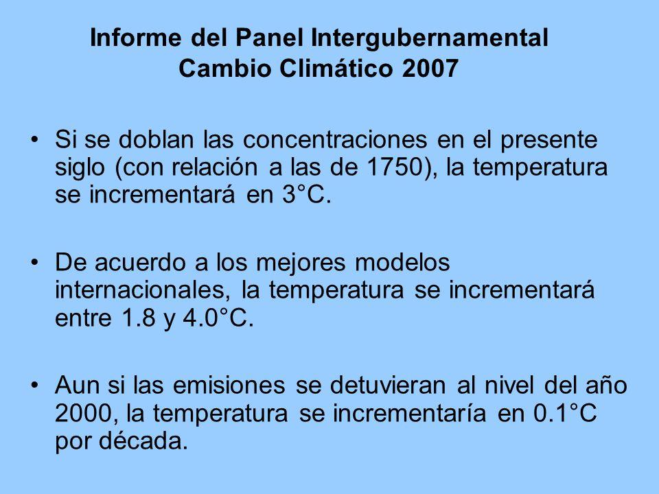 Informe del Panel Intergubernamental Cambio Climático 2007