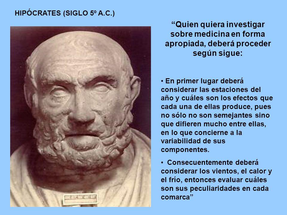 HIPÓCRATES (SIGLO 5º A.C.)