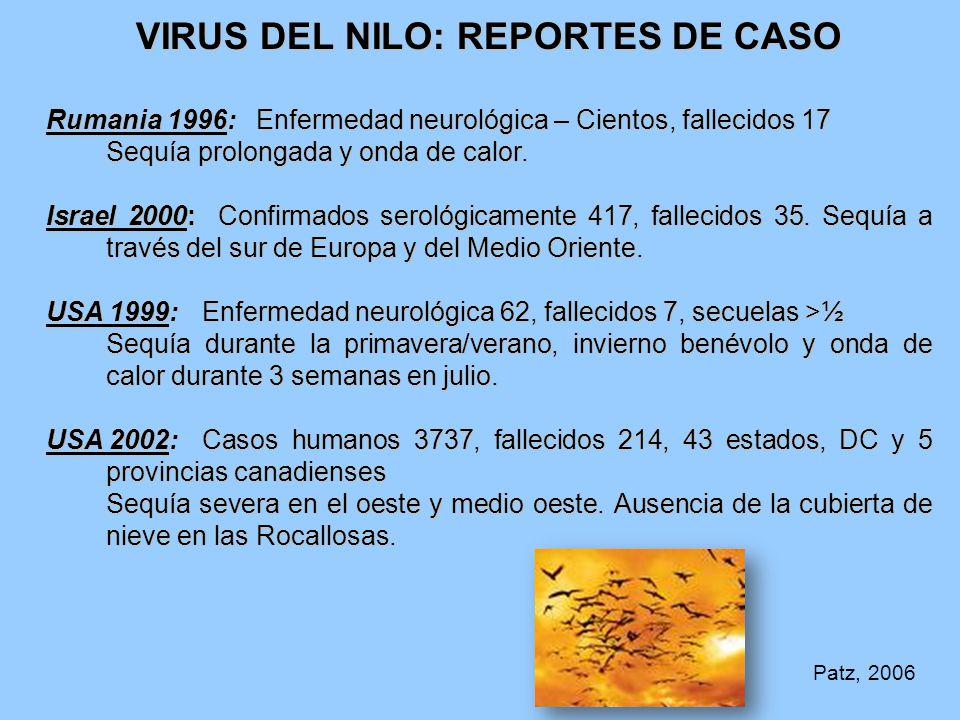 VIRUS DEL NILO: REPORTES DE CASO