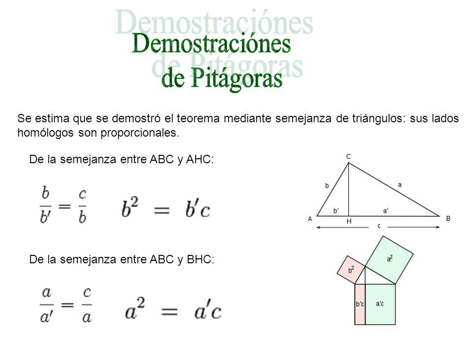 Demostraciónes de Pitágoras