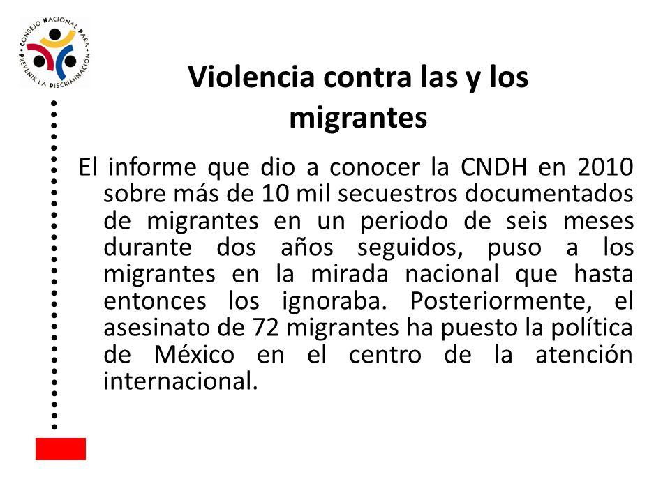 Violencia contra las y los migrantes