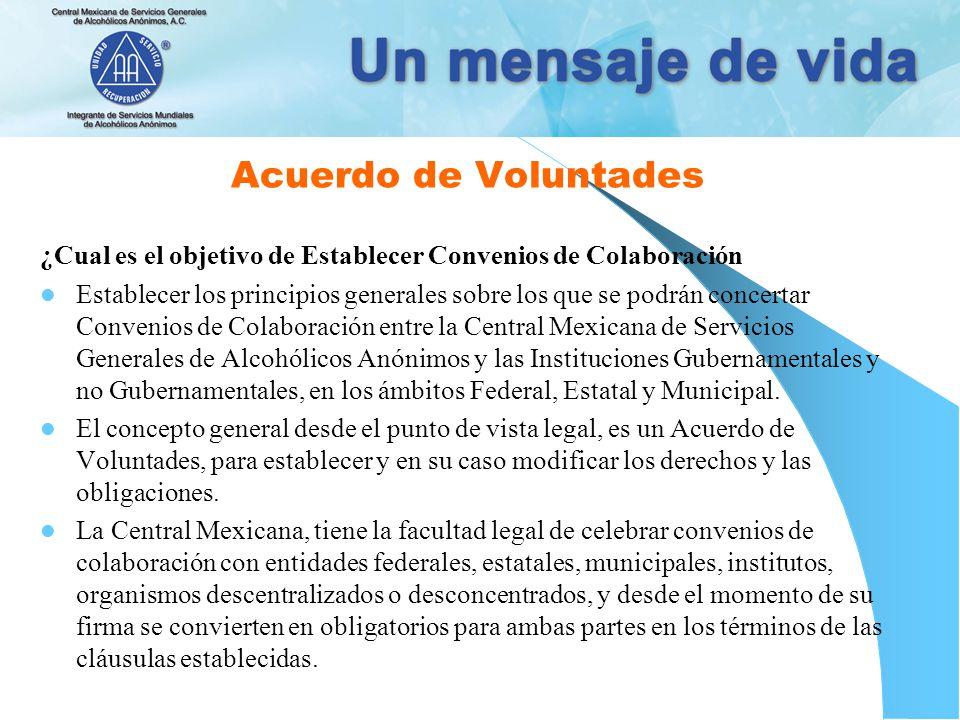 Acuerdo de Voluntades ¿Cual es el objetivo de Establecer Convenios de Colaboración