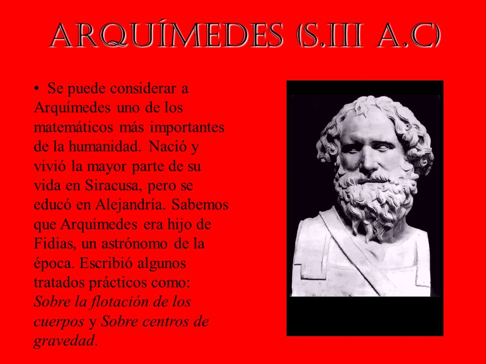 Arquímedes (s.III a.C)