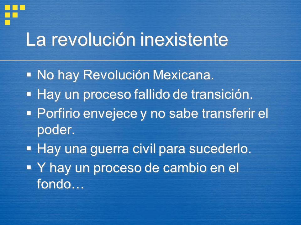 La revolución inexistente