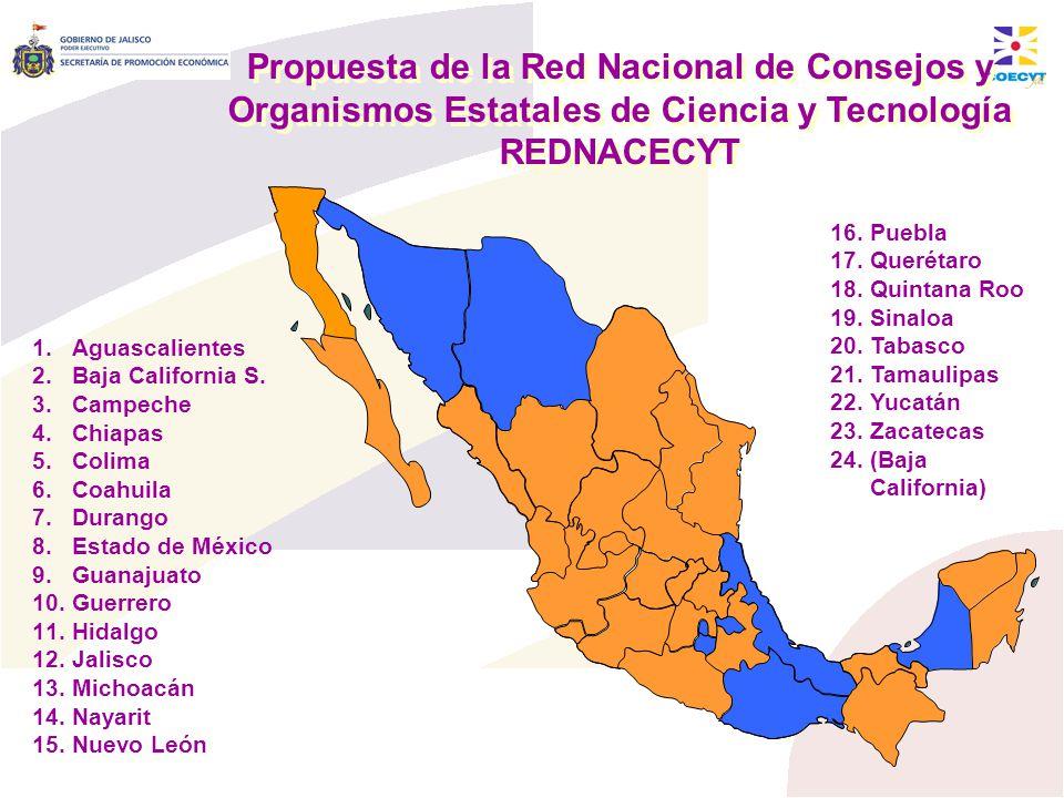 Propuesta de la Red Nacional de Consejos y Organismos Estatales de Ciencia y Tecnología REDNACECYT