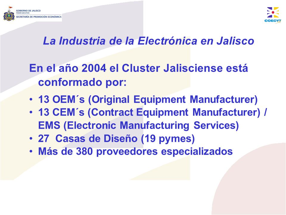 La Industria de la Electrónica en Jalisco