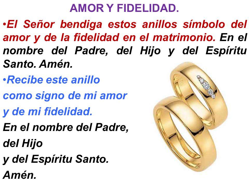 AMOR Y FIDELIDAD.