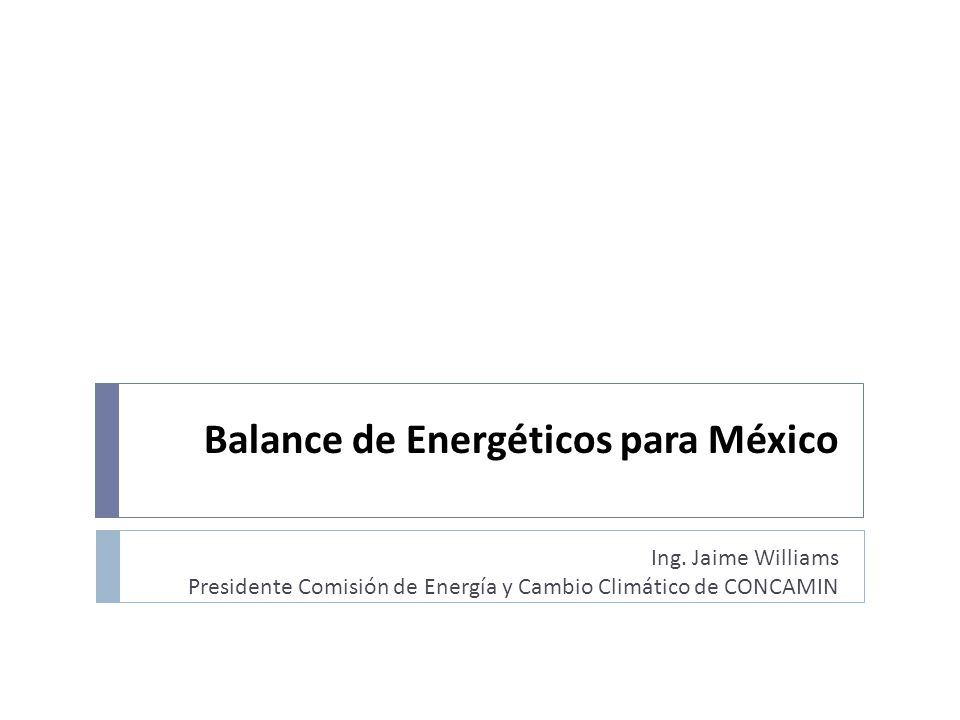 Balance de Energéticos para México