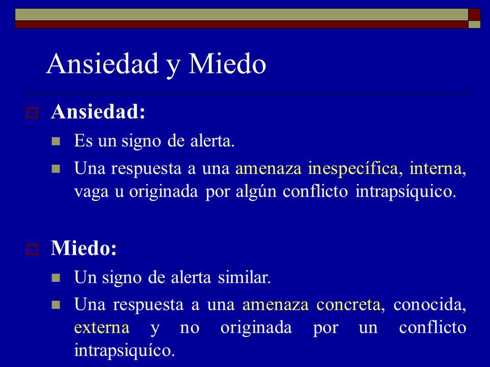 Ansiedad y Miedo Ansiedad: Miedo: Es un signo de alerta.