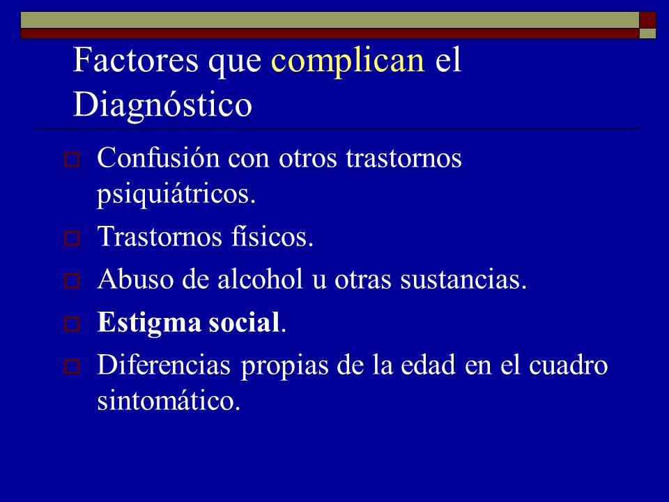 Factores que complican el Diagnóstico