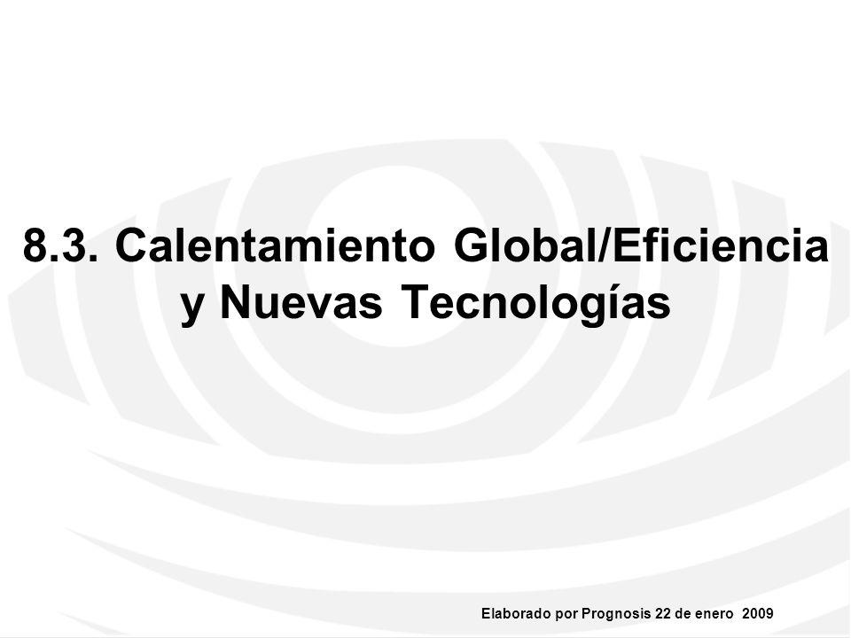 8.3. Calentamiento Global/Eficiencia y Nuevas Tecnologías