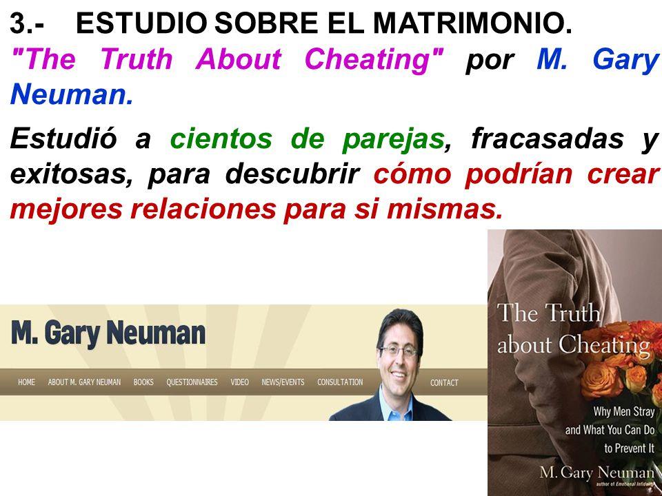 3.- ESTUDIO SOBRE EL MATRIMONIO.