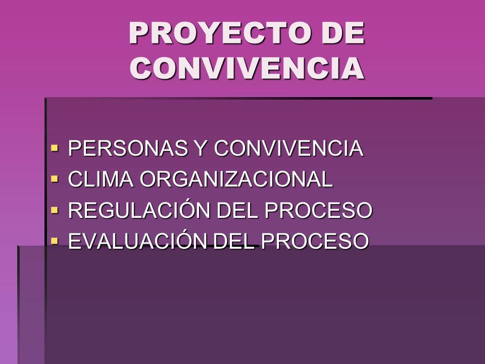 PROYECTO DE CONVIVENCIA