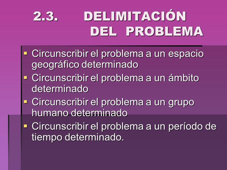 2.3. DELIMITACIÓN DEL PROBLEMA