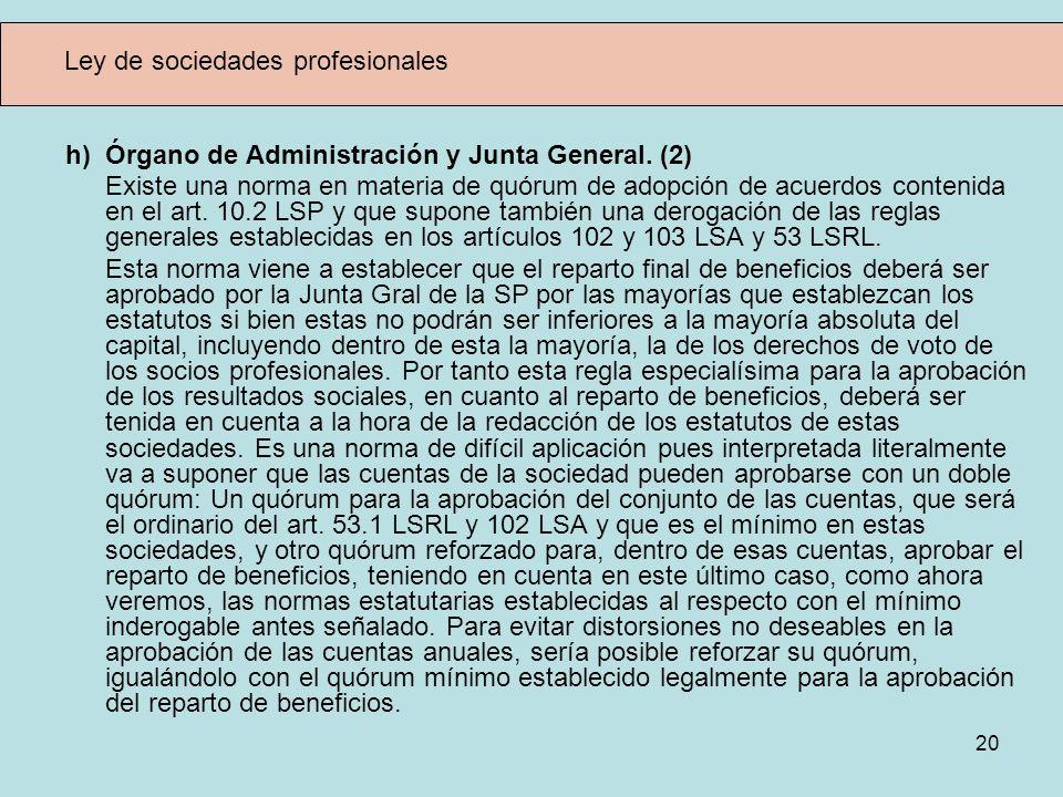Ley de sociedades profesionales
