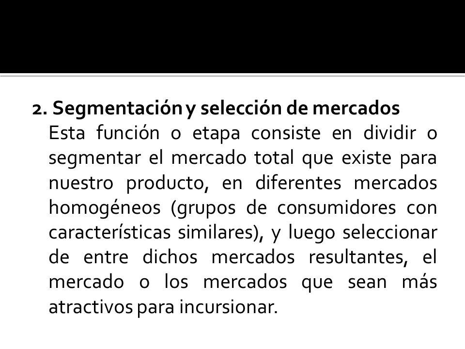 2. Segmentación y selección de mercados