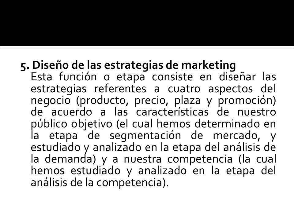 5. Diseño de las estrategias de marketing
