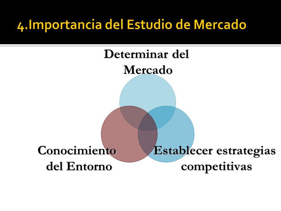 4.Importancia del Estudio de Mercado