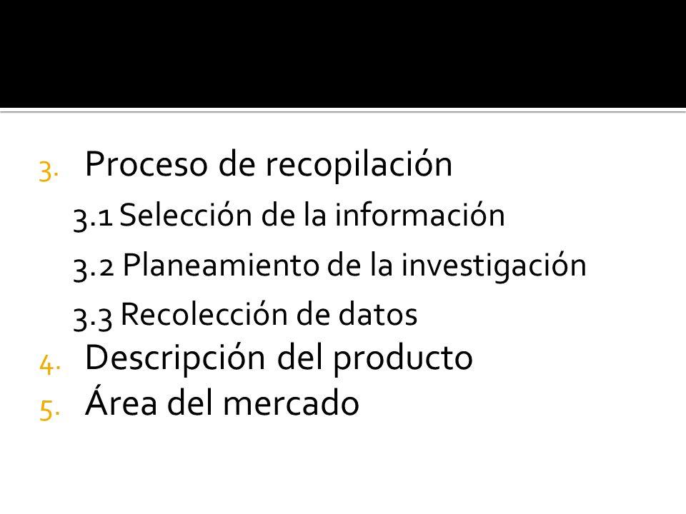 Proceso de recopilación