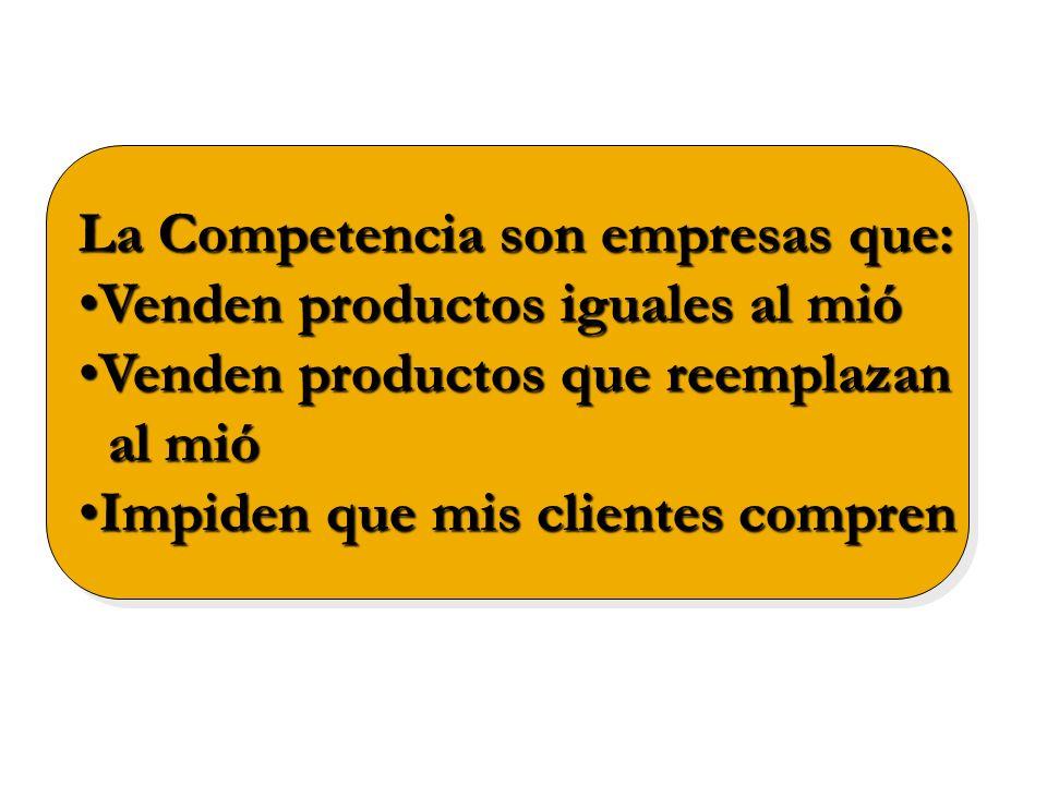 La Competencia son empresas que:
