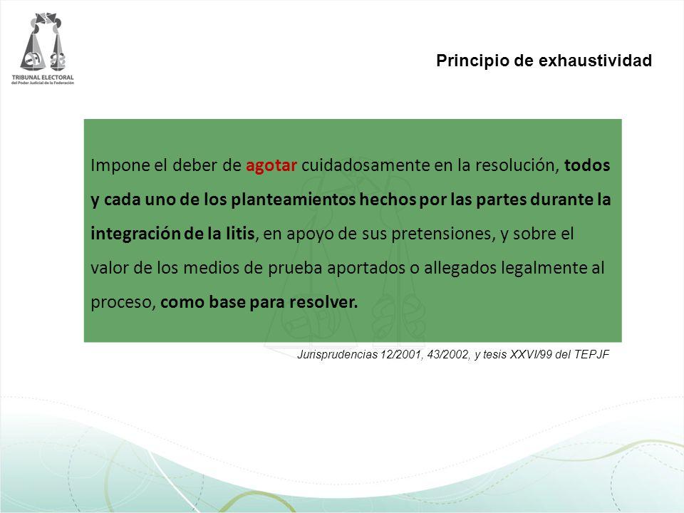 Principio de exhaustividad