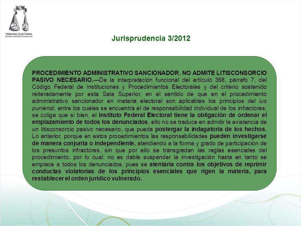 Jurisprudencia 3/2012