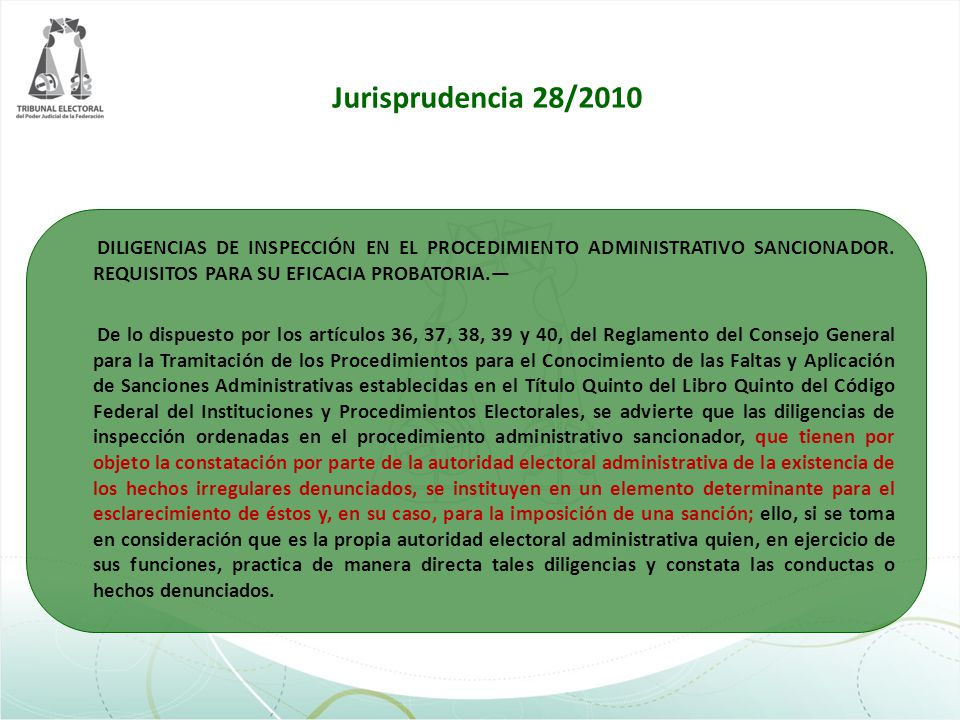 Jurisprudencia 28/2010