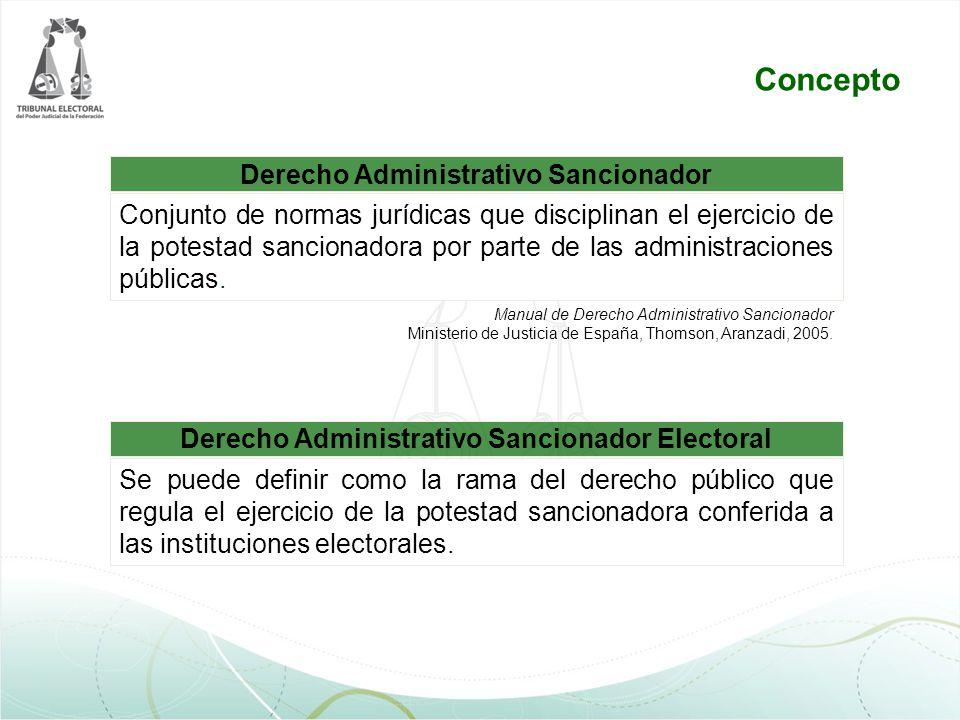 Concepto Derecho Administrativo Sancionador