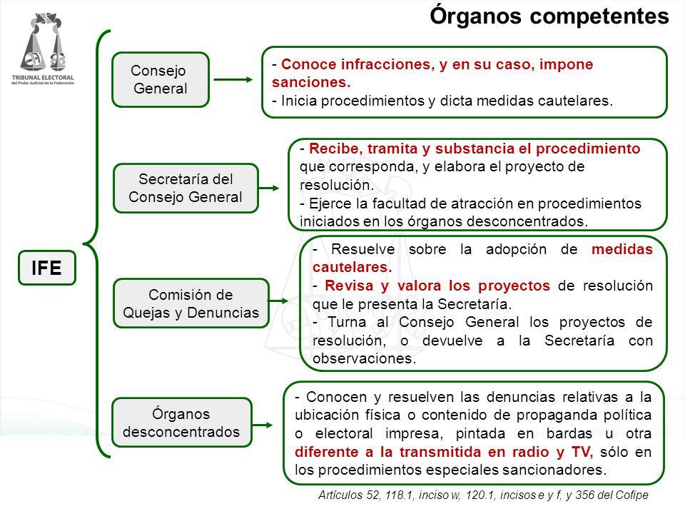 Órganos competentes IFE