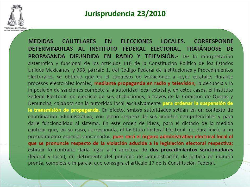 Jurisprudencia 23/2010