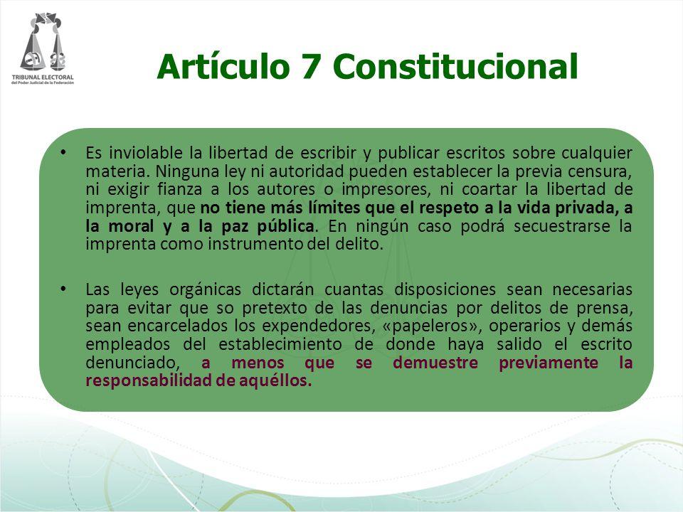 Artículo 7 Constitucional