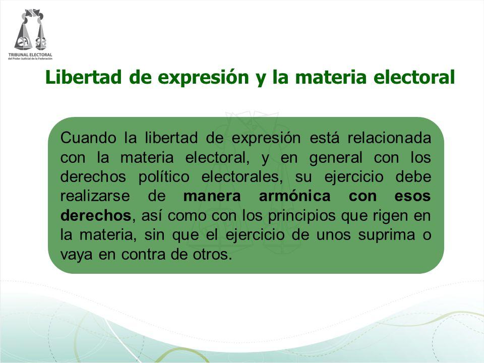 Libertad de expresión y la materia electoral