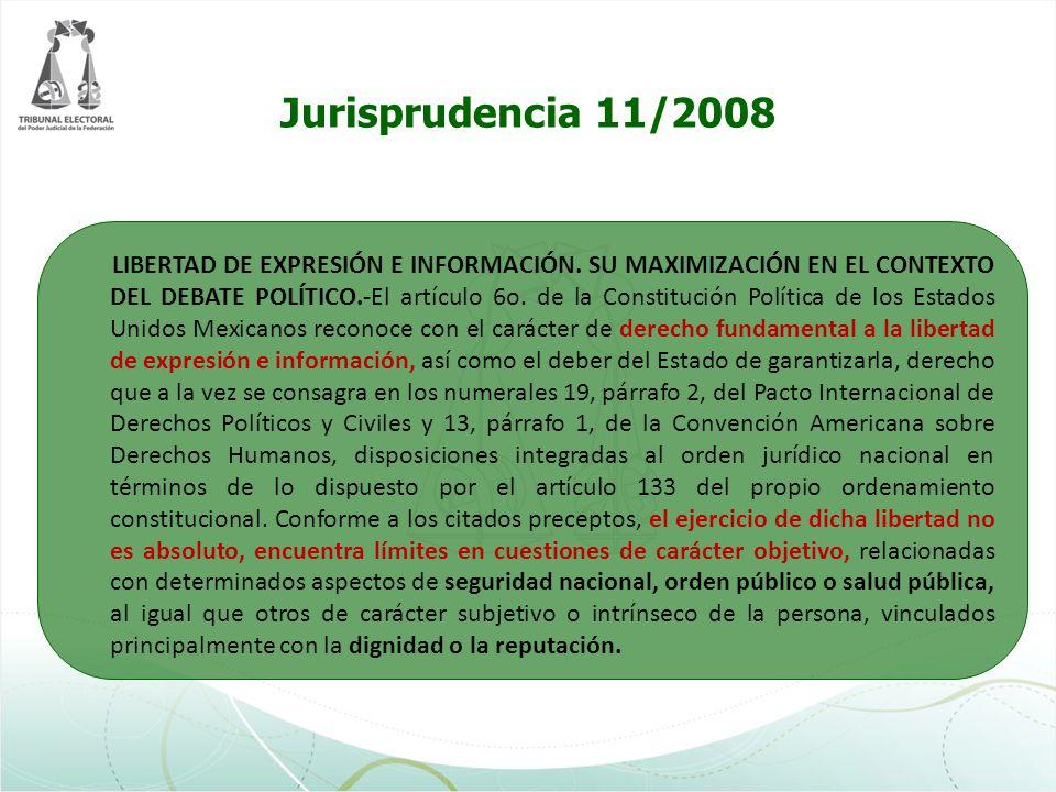 Jurisprudencia 11/2008