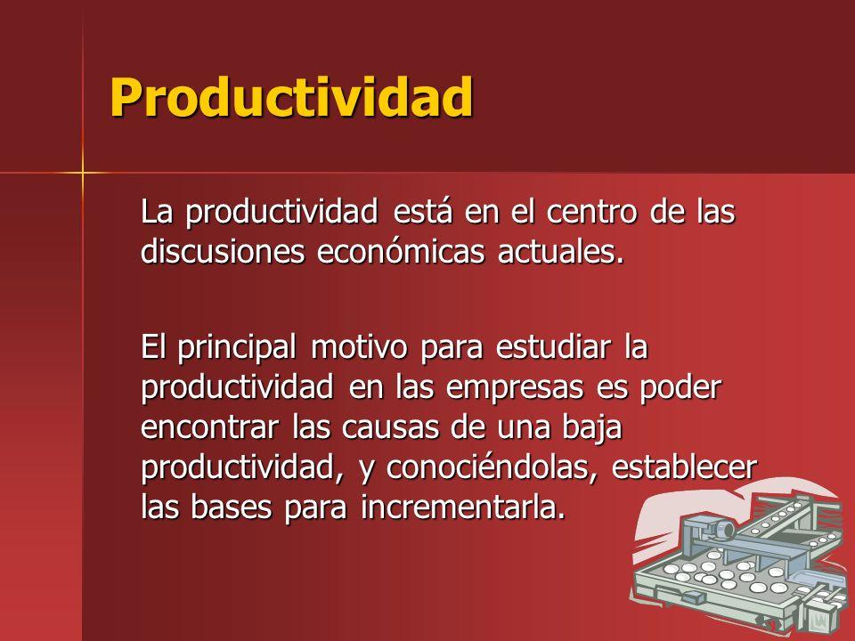 Productividad La productividad está en el centro de las discusiones económicas actuales.